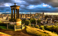 Dugald Stewart Monument in Edinburgh wallpaper 2560x1600 jpg