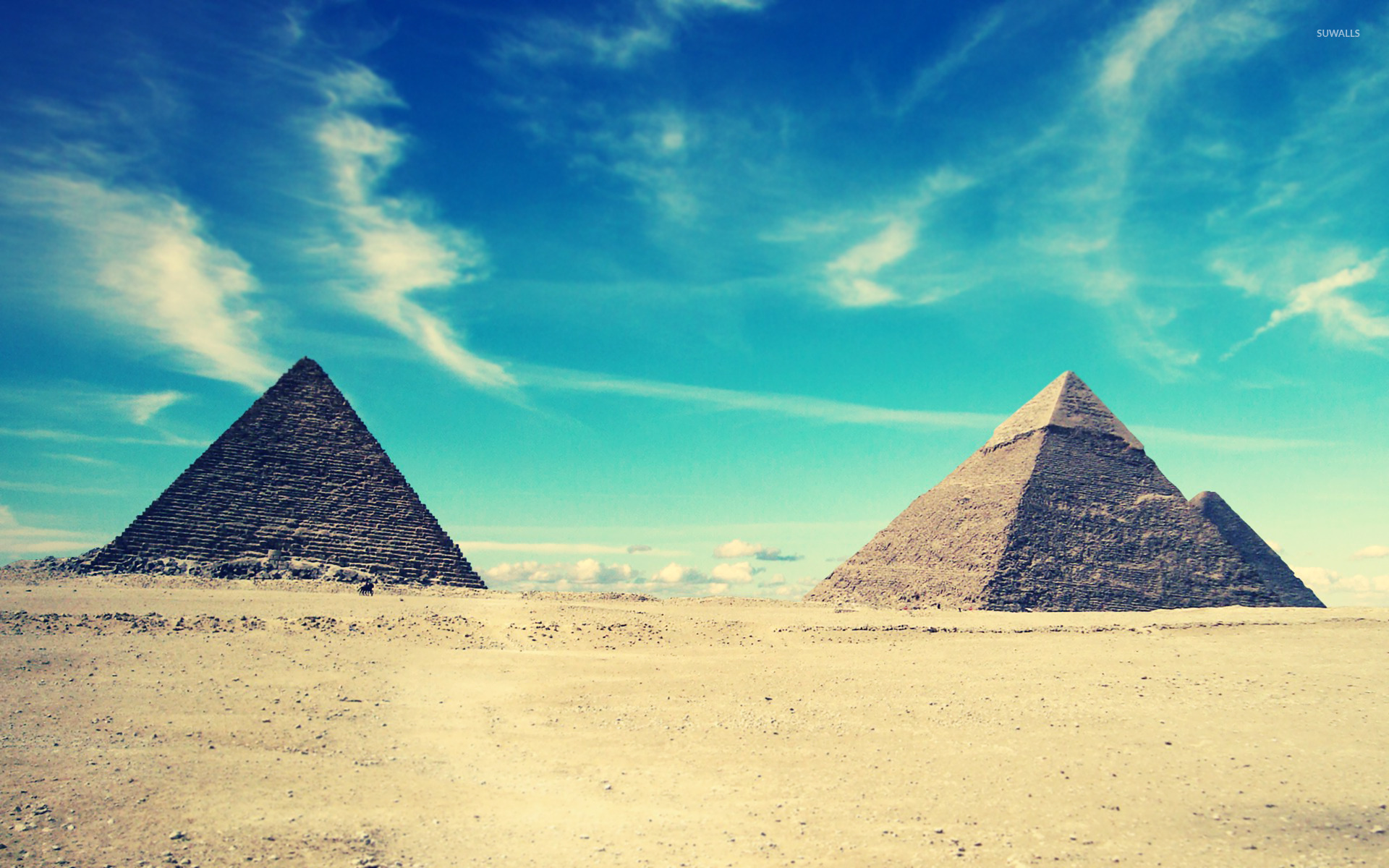 Egyptian pyramids wallpaper world wallpapers 16365 for 3d wallpaper for home egypt