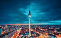 Fernsehturm Berlin wallpaper 1920x1200 jpg