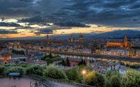Florence at dusk wallpaper 1920x1200 jpg
