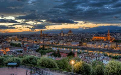 Florence at dusk wallpaper