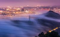 Foggy city wallpaper 1920x1200 jpg