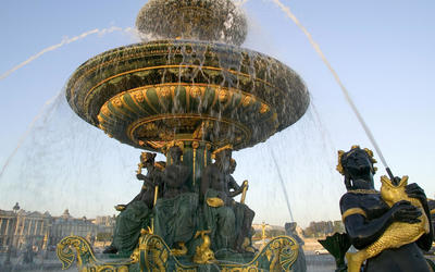 Fountain of River Commerce and Navigation wallpaper