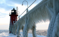 Frozen lighthouse wallpaper 1920x1080 jpg