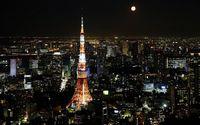 Full moon over Tokyo wallpaper 1920x1200 jpg