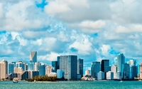 Fuzzy clouds above Miami Beach wallpaper 1920x1080 jpg