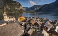 German town by the lake wallpaper 3840x2160 jpg