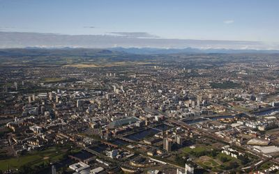 Glasgow aerial view wallpaper