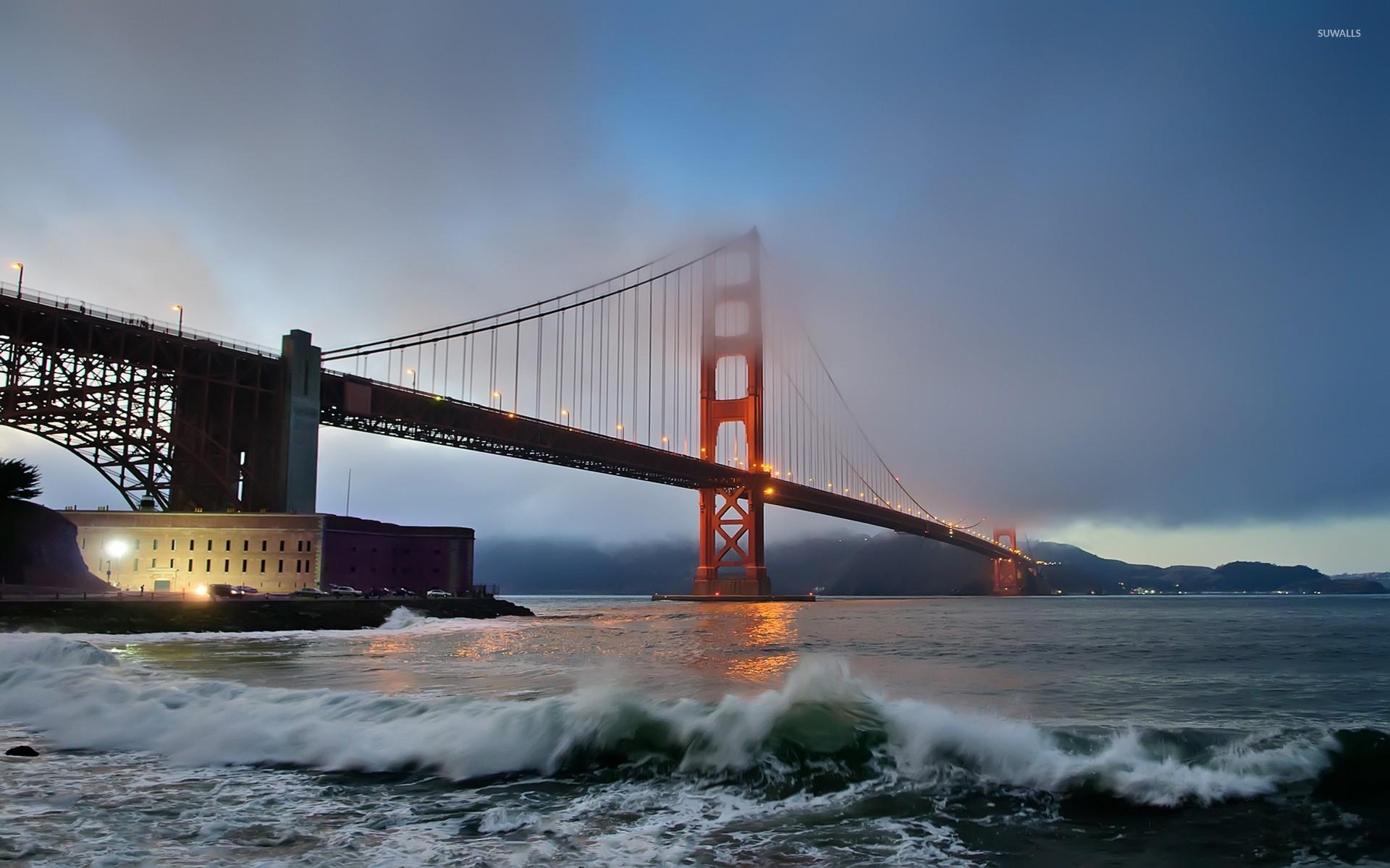 Golden Gate Bridge Fog San Francisco Bay Pacific Ocean Usa