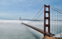 Golden Gate Bridge lost in the fog wallpaper 3840x2160 jpg