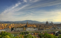 Golden sunset above Florence wallpaper 1920x1080 jpg