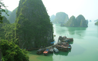 Ha Long Bay wallpaper 1920x1200 jpg