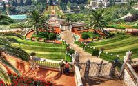 Hanging Gardens of Haifa, Israel wallpaper 1920x1080 jpg
