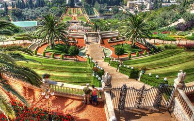 Hanging Gardens of Haifa, Israel wallpaper