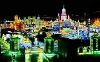 Harbin International Ice and Snow Sculpture Festival wallpaper 1920x1080 jpg