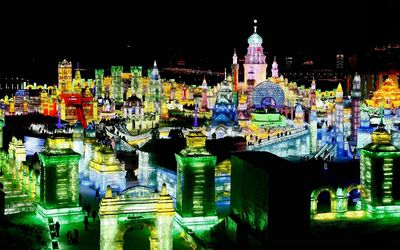 Harbin International Ice and Snow Sculpture Festival wallpaper