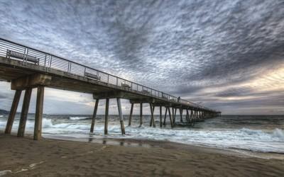 Hermosa Beach pier [2] wallpaper