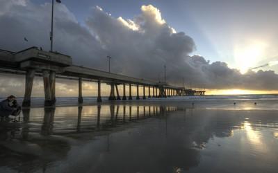 Hermosa Beach pier wallpaper