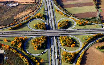 Highway in Germany wallpaper