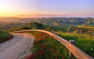Hills in Italy wallpaper