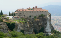 Holy Monastery of St. Stephen in Meteora wallpaper 2560x1600 jpg