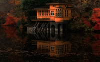 House reflecting in the water wallpaper 1920x1080 jpg