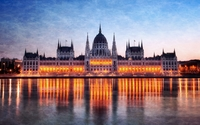 Hungarian Parliament Building [6] wallpaper 1920x1200 jpg