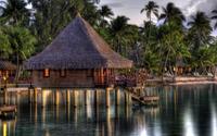 Hut in Maldives wallpaper 1920x1200 jpg