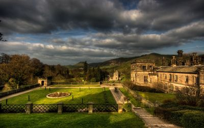 Ilam Hall and park wallpaper