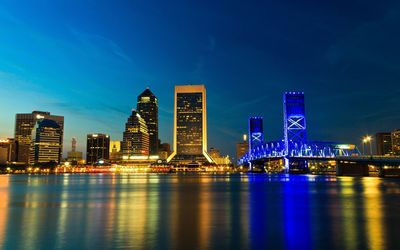 Jacksonville at night wallpaper