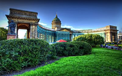 Kazan Cathedral in Saint Petersburg wallpaper