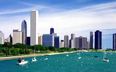 Lake Michigan in Chicago wallpaper