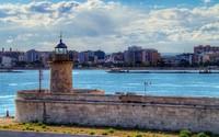 Lighthouse in Bari, Italy wallpaper 1920x1080 jpg