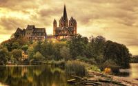 Limburg Cathedral, Germany wallpaper 1920x1200 jpg