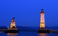 Lindau Lighthouse wallpaper 1920x1200 jpg