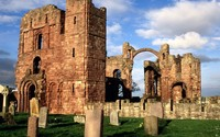 Lindisfarne Priory wallpaper 1920x1200 jpg