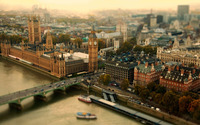 London tilt-shift photography wallpaper 1920x1080 jpg