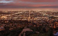 Los Angeles by night wallpaper 1920x1080 jpg