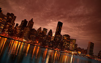 Manhattan at night wallpaper 2560x1440 jpg