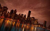 Manhattan at night wallpaper 2560x1440 jpg