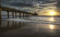 Manhattan Beach Pier wallpaper 1920x1080 jpg