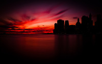 Manhattan sunset wallpaper 1920x1200 jpg