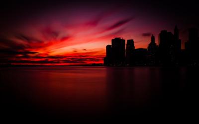 Manhattan sunset wallpaper
