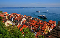 Meersburg in the summer wallpaper 2880x1800 jpg