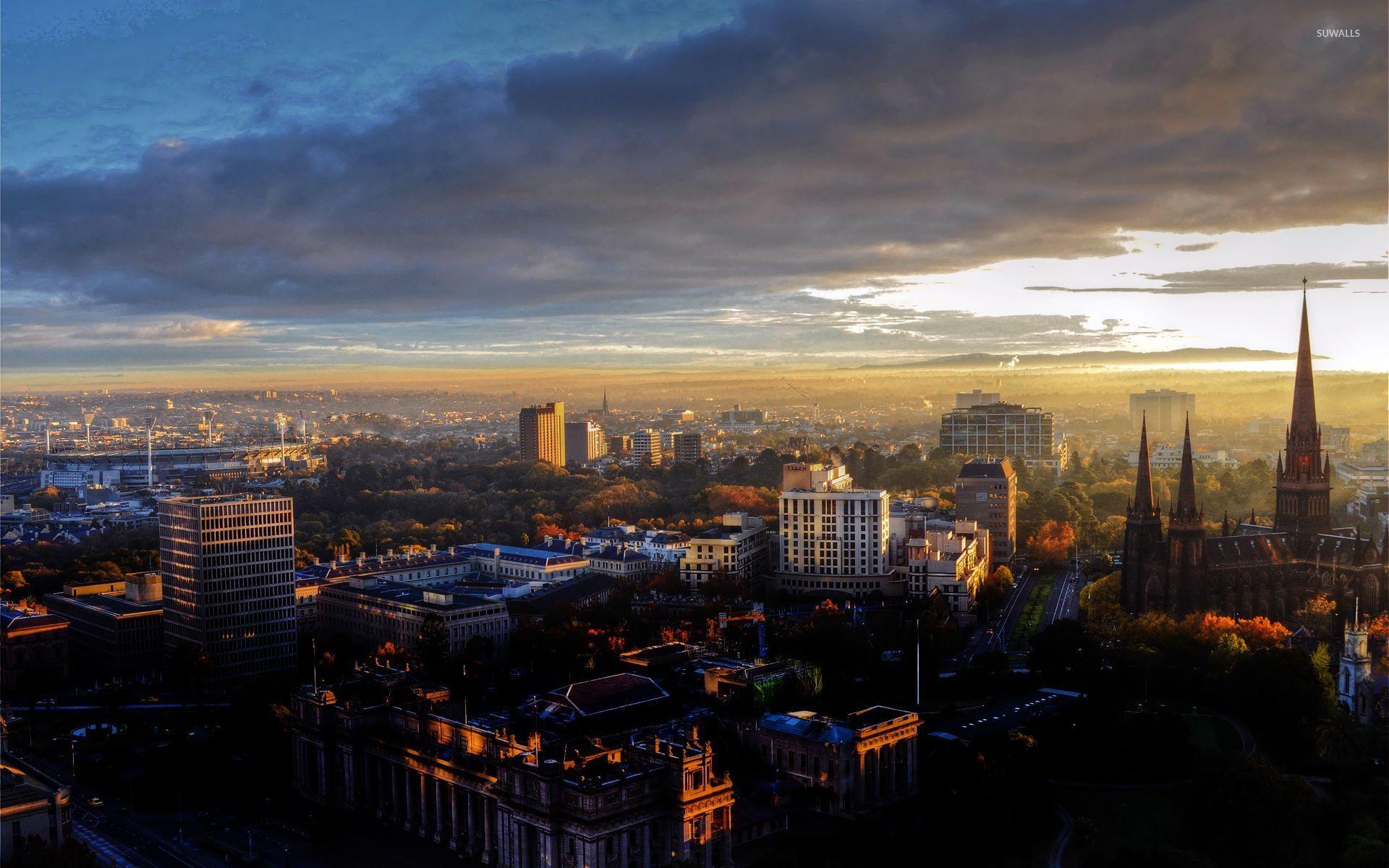 Melbourne cityscape wallpaper