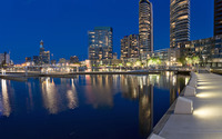 Melbourne Docklands wallpaper 1920x1200 jpg