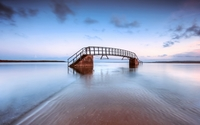 Metallic bridge in the water wallpaper 1920x1080 jpg