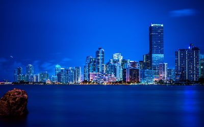 Miami night skyline wallpaper
