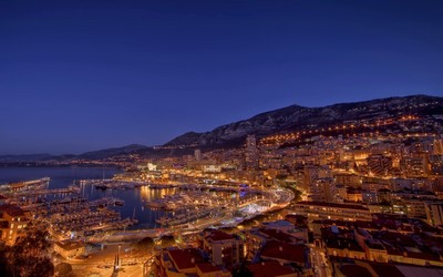 Monaco at night wallpaper