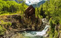 Mountain cabin wallpaper 2880x1800 jpg